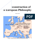The Reconstruction of a European Philosophy