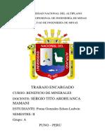 Beneficio de Minerales-edson Ludwin Poma Gonzales