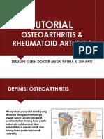 OSTEOARTHRITIS & RA