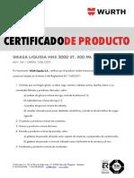 Certificado Producto Grasa Wurth