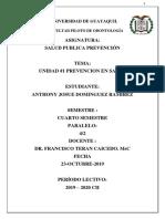Deber de Salud Publica Dr Teran Anthony