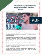 Selección Peruana Sub 20
