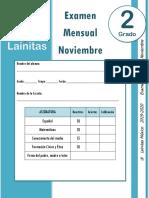 Noviembre - 2do Grado - Examen mensual (2019-2020).docx