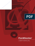 FontDoctor for Windows Manual