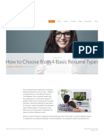 How to Choose From 4 Basic Resume Types — Kimmel & Associates