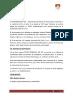 Capitulo i Trabajo de Gestion de Calidad Futuro de Bolivia s.a. Afp