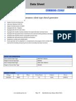 250KVA CUMMINS Diesel Generator Specifications