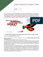 Prova de Filosofia_7º Ano Milton Santos e Carlos Drummond de Andrade