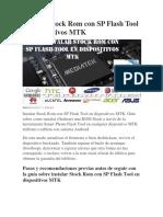Instalar Stock Rom Con SP Flash Tool en Dispositivos MTK