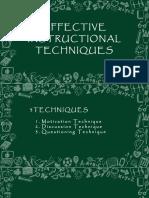 Effective Instructional Techniques