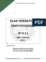 PLAN 12116 Plan Operativo Insitucional 2011 (POI) 2011