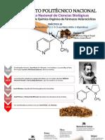 Extracción de Nicotina de farmo