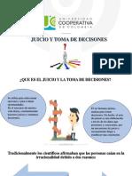 Exposicion de Juicio y Toma de Decisiones
