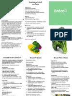 Brocoli Recetas Español