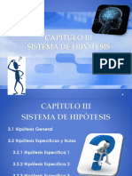 Capitulo III sistema de hipotesis de el lic. Duarte