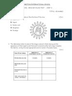 a Level biology edexcel class test paper