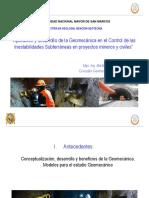 Aplicación y Desarollo de La Geomecánica en Obras Subterráneas .Maestria San Marcos 2018. Clases 1 a 4