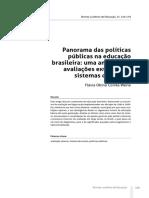 Panorama políticas públicas na educação