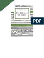 Rilke Rainer Maria - Las Elegias de Duino