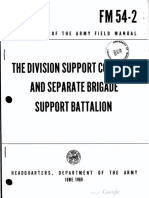 FM 54-2 Division Support Command