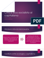 Crítica Eco Socialista Al Capitalismo