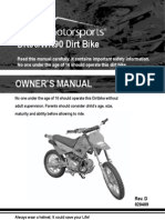 85 Owners Manual - Dr90-Wr90 Dirt Bike Vin Prefix Luah