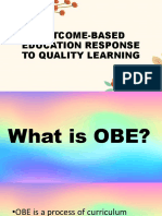 Ped05 Outcome Based Education Response to Quality Learning 2019