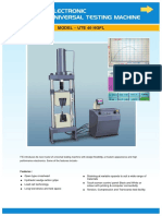 Electronic Universal Testing Machines (UTE 40 HGFL)