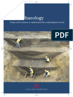 Geoarchaeology -  Using earth sciences to understand the archaeological record