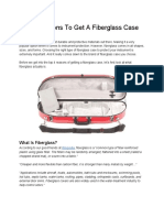 Top 4 Reasons to Get a Fiberglass Case