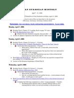 RATLIFF -- MEH Lesson Plans April 7 - April 11 2008