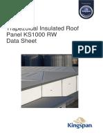 12578 Kingspan PIR Trapezoidal Roof KS1000RW Datasheet en UK