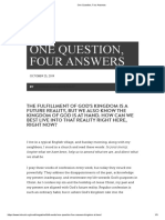 One Question, Four Answers