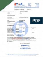 Certificado de Calibracion Wild