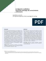 La investigación cualitativa- un importante abordaje del conocimiento para enfermería