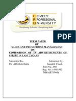 Sales Term Paper