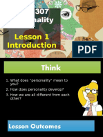 Lesson 1 Introduction to Personality Psychology