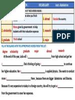 1 Bac-  Education Vocabulary exercise.pptx