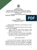 Extras Propunere Arestare Preventivă Furt Calificat