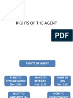 Rights of Agent