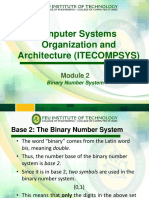 Computer Systems Organization and Architecture Module 1-2