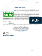 Quick Count Konsumsi BBM Genset – Inti Daya Online