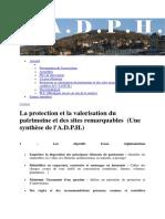 La Protection Et La Valorisation Du Patrimoine Et Des Sites Remarquables