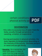 Certain Conditions Related to Physical Activity Participation
