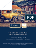 Vintage Classic Car Auction Catalogue