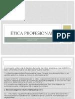 Ética Profesional. Unidad 2
