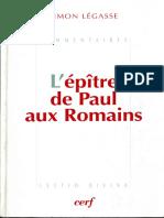 Simon Legasse, L'Epitre de Paul aux Romains i