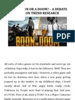 PUBG - Boom or Doom