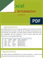 Sesión 6 - Tablas en Excel
