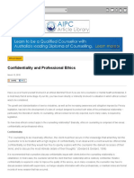 Www Aipc Net Au Articles Confidentiality and Professional Ethics